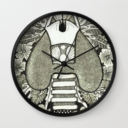 The Anatomical Thyroid- Organs and Herbs series Wall Clock