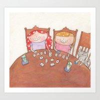 September - Year of Sisters - Watercolor Art Print