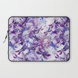Dragonfly Lullaby in Pantone Ultraviolet Purple Laptop Sleeve