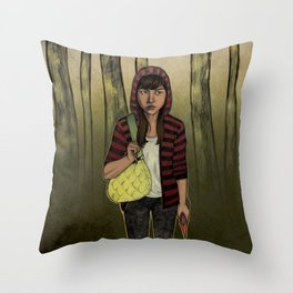 There Are Wolves in the World Throw Pillow