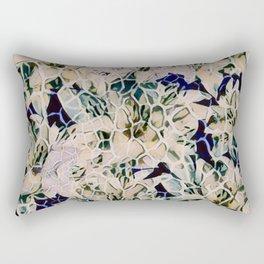 Flowered Giraffe Print Rectangular Pillow
