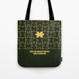 Lab No. 4 -Even The Hardest Puzzles Have A Solution Corporate Start-Up Quotes Tote Bag