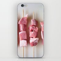 meat iPhone & iPod Skins featuring Meat Meat Meat (3) by The Avant-Garden