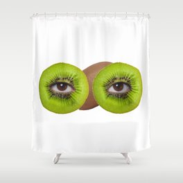 Psychedelic kiwi Shower Curtain