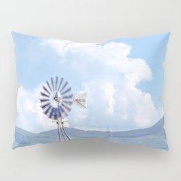 """Blue Windmill Blue Sky"" by Murray Bolesta Pillow Sham"