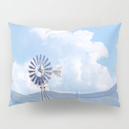 """Blue Windmill Blue Sky"" by Murray Bolesta Pillow Sham"