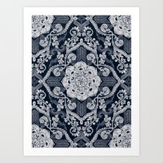 Centered Lace - Dark Art Print