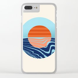 Sweetness - retro minimal 70s style throwback sunset sunrise ocean socal art Clear iPhone Case