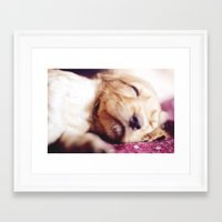 arya stark Framed Art Prints featuring Arya by SebastianRS