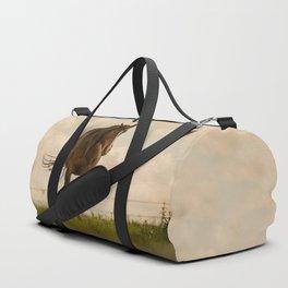 Horse In the green feild. Duffle Bag