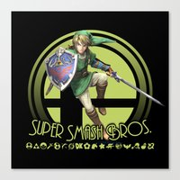 super smash bros Canvas Prints featuring Link - Super Smash Bros. by Donkey Inferno