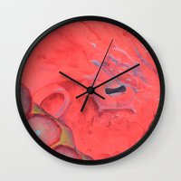 poe Wall Clocks featuring Poe by The Hue Zoo