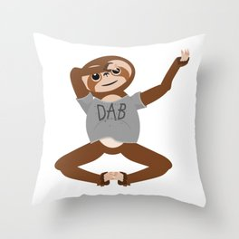 Sloth Dabbing Throw Pillow