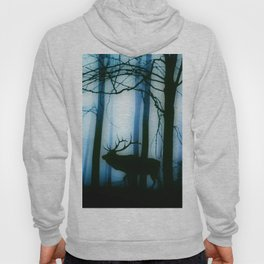 Deer in the blue forest Hoody
