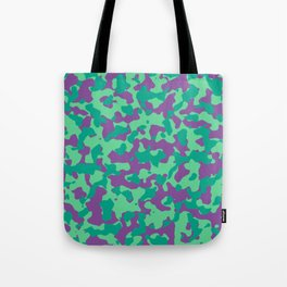Camouflage Purple Teal Tote Bag