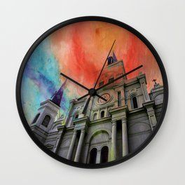 Water Color Cathedral Wall Clock