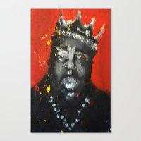 biggie smalls Canvas Prints featuring Biggie Smalls by Larry Caveney