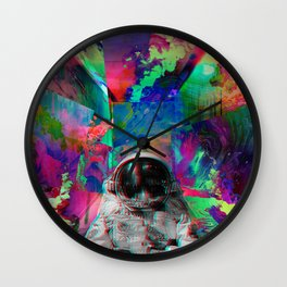 Tripping Space Man Wall Clock