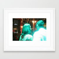 holographic Framed Art Prints featuring Holographic Love by heidelights