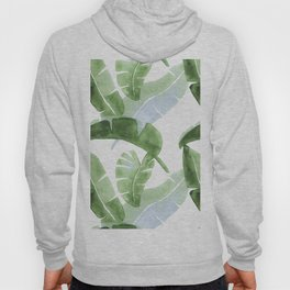 Tropical Leaves Green And Blue Hoody