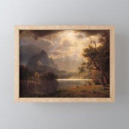 Estes Park Colorado 1869 By Albert Bierstadt   Reproduction Painting Framed Mini Art Print