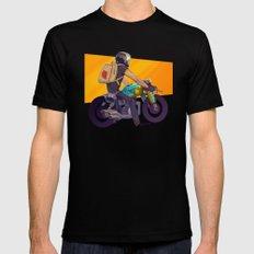 Biker MEDIUM Mens Fitted Tee Black