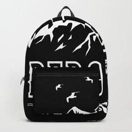 Bergliebe Retro - Wandern Bergsteiger Design Motiv Backpack