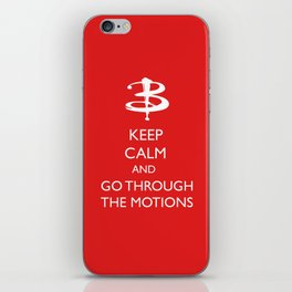 Go through the motions iPhone Skin