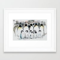 penguins Framed Art Prints featuring penguins by Katja Main