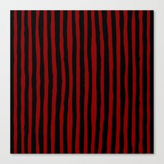 Black and Red Stripes Canvas Print