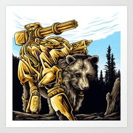 Golden Bearborg Art Print