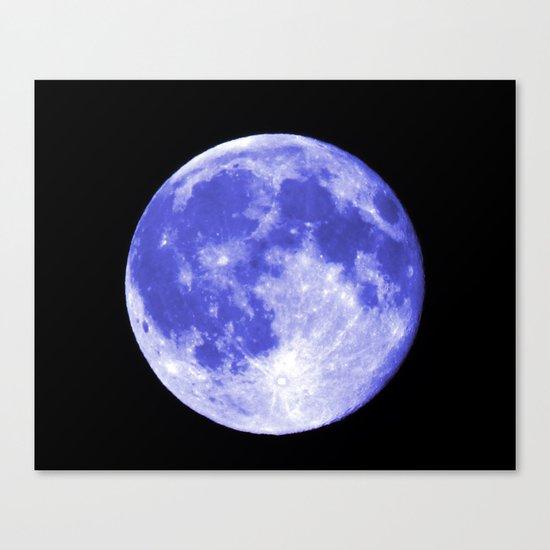 Blue Moon looks like Earth Canvas Print