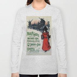 Moulin De La Galette 1896 Paris Long Sleeve T-shirt