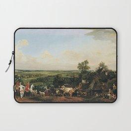 Bernardo Bellotto - View of Wilanów meadows Laptop Sleeve