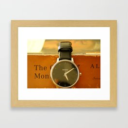 Time is on your side Framed Art Print