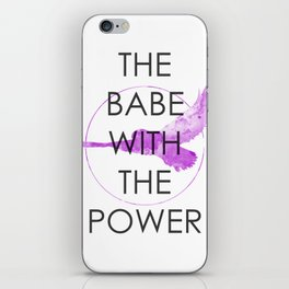 The Babe With The Power (Labyrinth) iPhone Skin