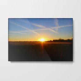 Sunset 032517 Abilene, Texas Metal Print