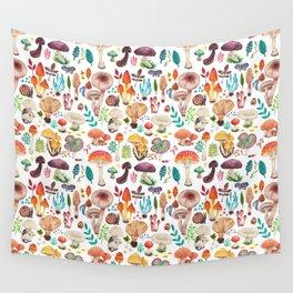 Mushroom heart Wall Tapestry