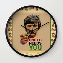 manchester united legend Wall Clock