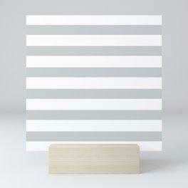 Seasalt Light Gray Stripes on White Mini Art Print