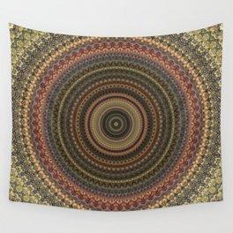 Vintage Bohemian Mandala Textured Design Wall Tapestry