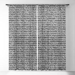 Ancient Arabic Script // Black Sheer Curtain