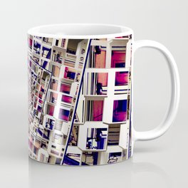 White House With Spinning 3D Cubes Coffee Mug