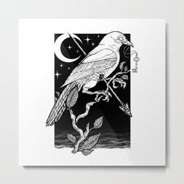 Night Crow Metal Print