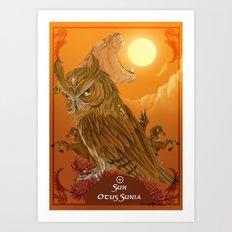 Solar owls -sun  Art Print