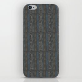 Tribal Teal Feather iPhone Skin