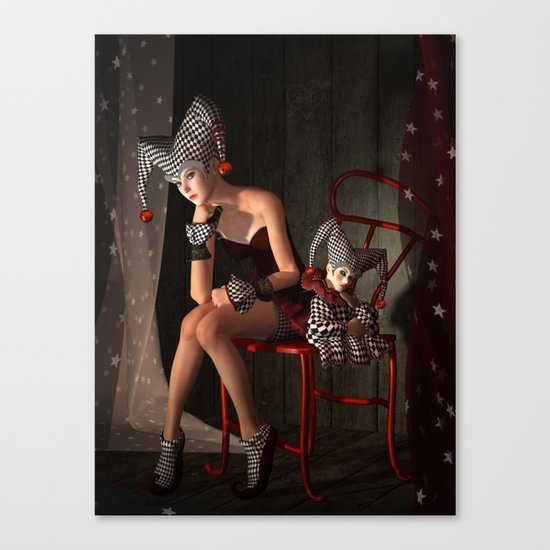 Clowns backstage Canvas Print