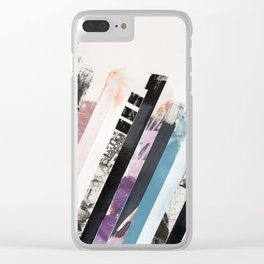 STRIPES 11 Clear iPhone Case