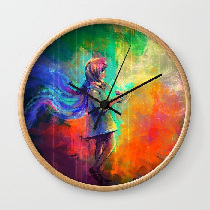 Spell of flying Wall Clock