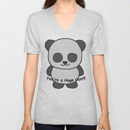 Panda says you're a huge cunt Unisex V-Neck